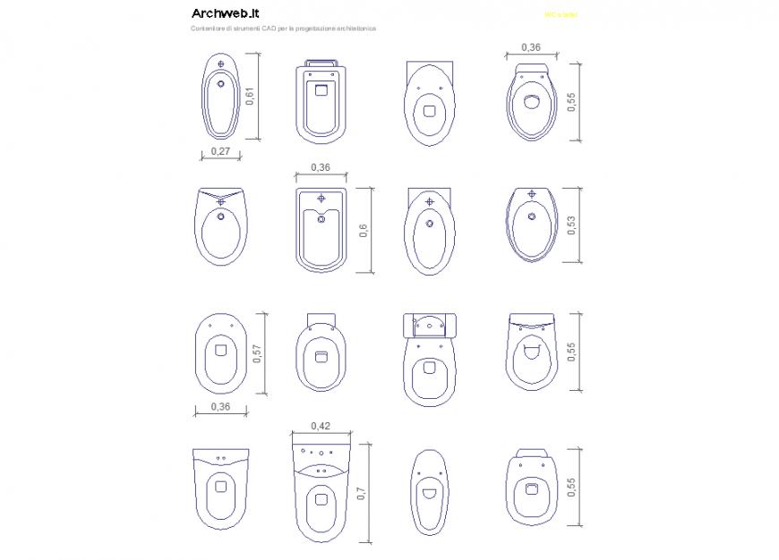 Sanitary blocchi autocad detail dwg file