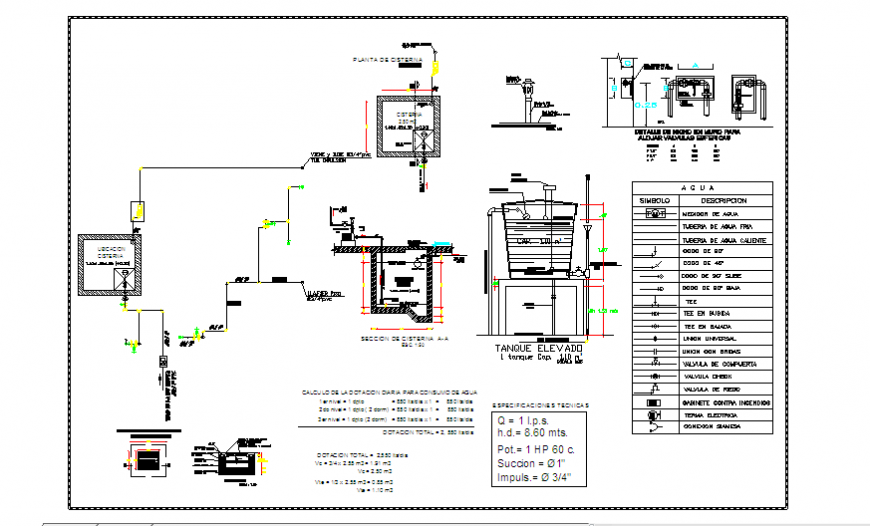 Sanitary block design drawing of small house  design drawing