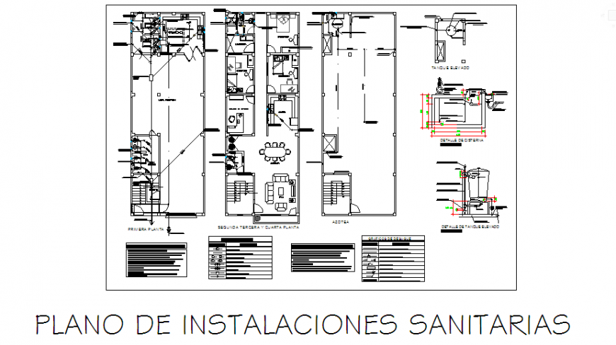 Sanitary design drawing of multi familiary house-location design drawing