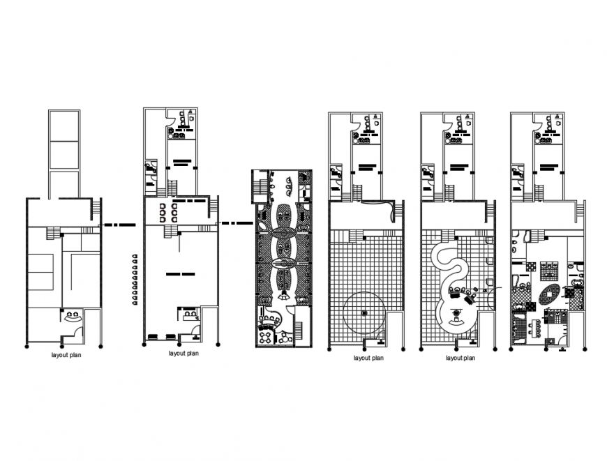 Sanitary equipment store layout plan cad drawing details dwg file