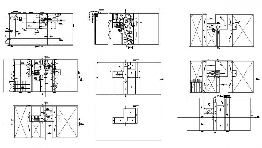 Sanitary installation and electric installation details of residential house dwg file
