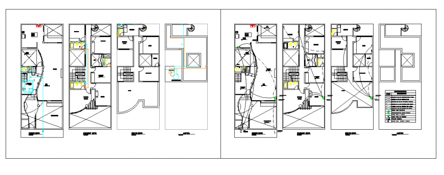 Sanitary installation design drawing of small house drawing design