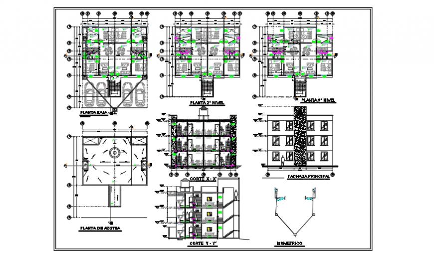 Sanitary installation design of duplex house design drawing