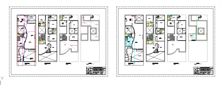 Sanitary installation detail design of house design drawing