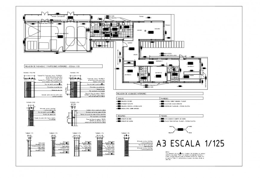 Sanitary installation details of two floors of office building dwg file
