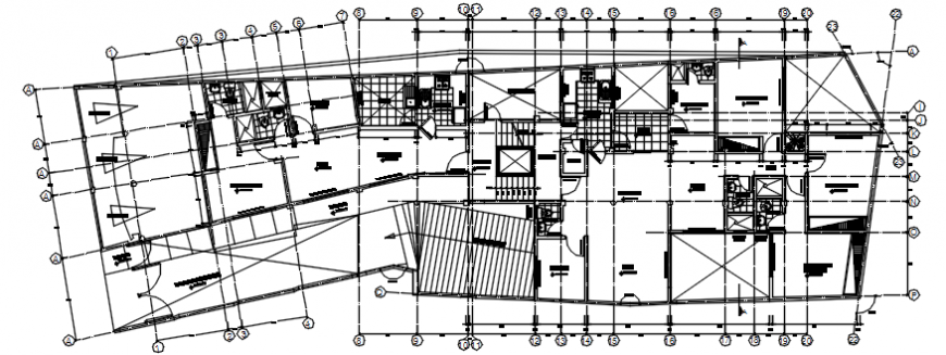Sanitary installation drawing details of multi-family building floor dwg file