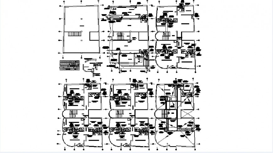 Sanitary installation of all houses of apartment building dwg file