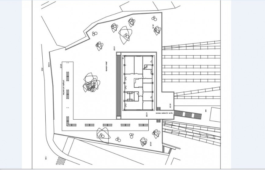 School building distribution and structure drawing details dwg file