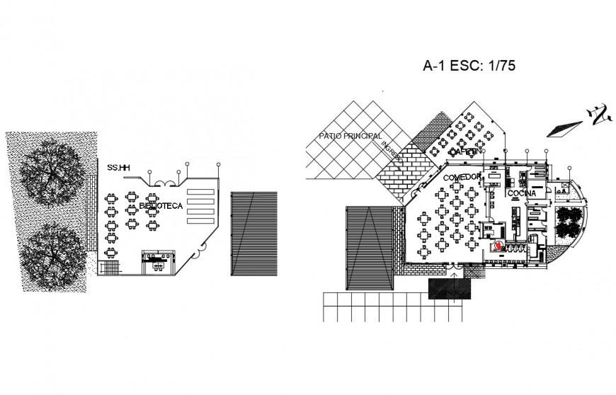 School building floor plan and structure cad drawing details dwg file