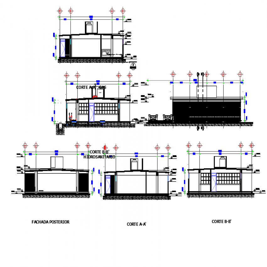 School cafeteria plan detailed dwg file.