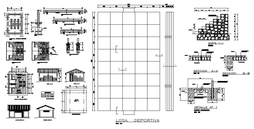School classroom several construction cad drawing details dwg file