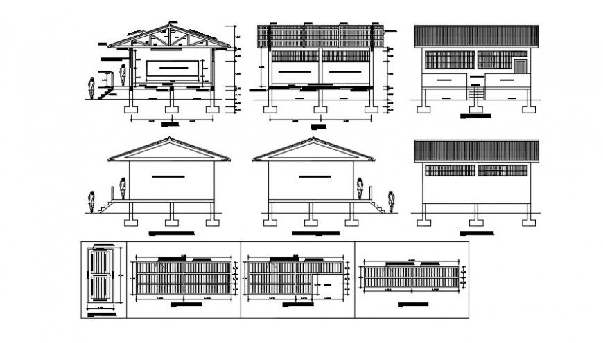 School sectional building elevation  detail dwg file