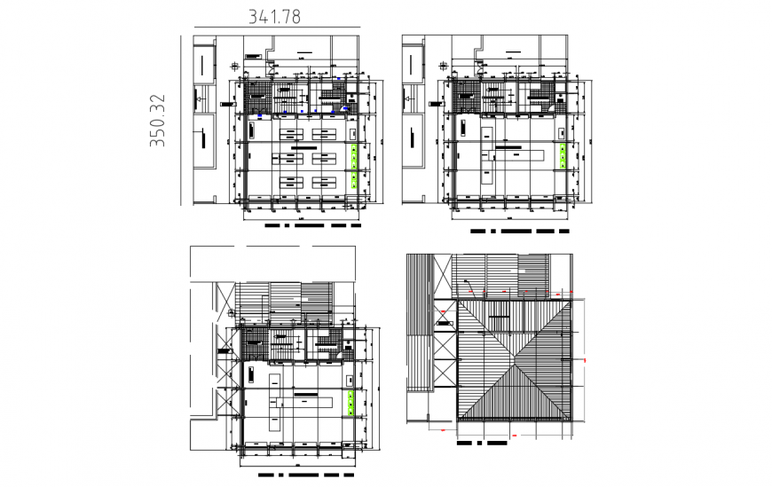 School with laboratory floor plan distribution cad drawing details dwg file