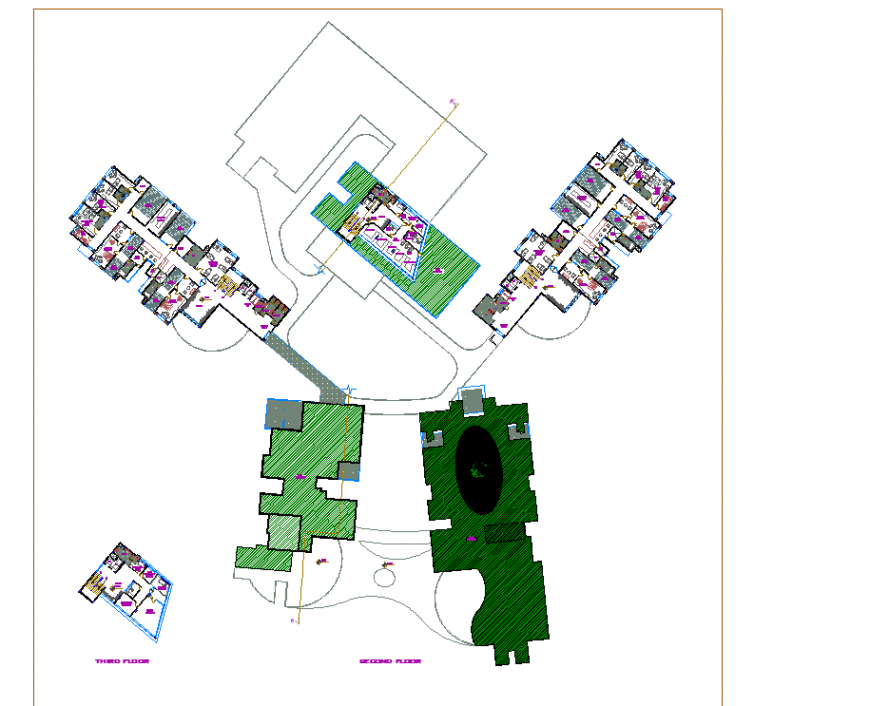 Second-floor hospital plan layout file