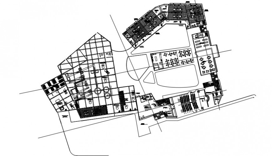 Second floor distribution drawing details of Rice technology center of Peru dwg file
