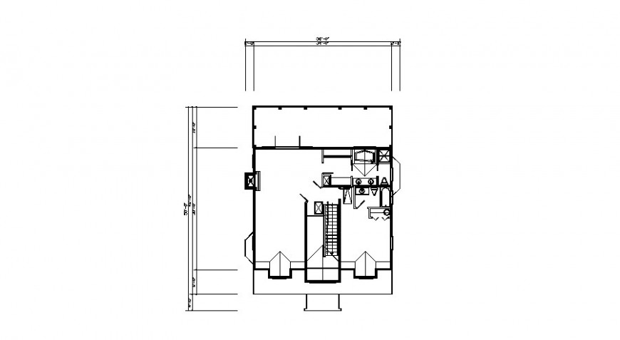 Second floor framing plan structure details of house auto-cad drawing details dwg file