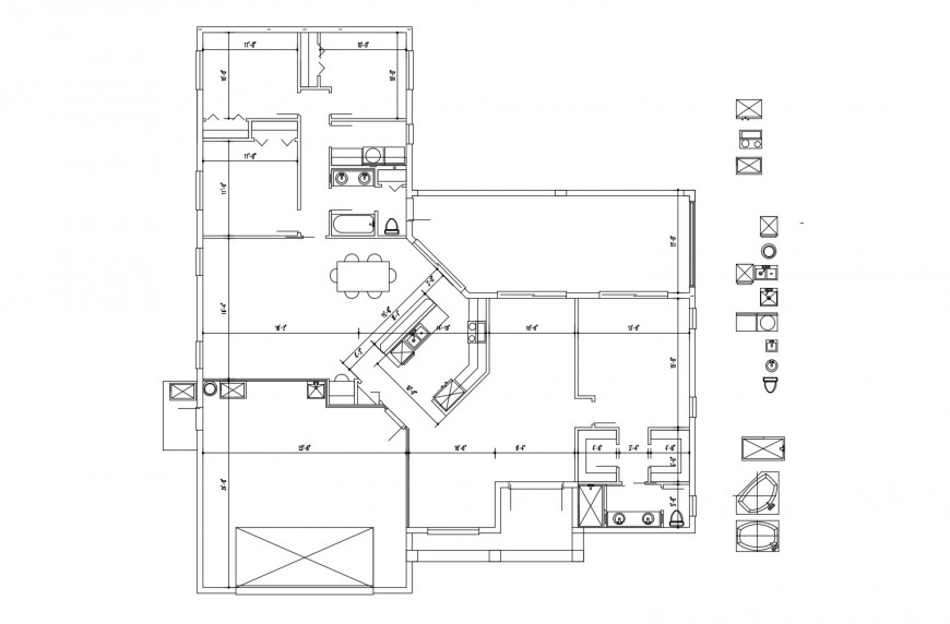 Second floor framing plan structure details of house with sanitary blocks dwg file