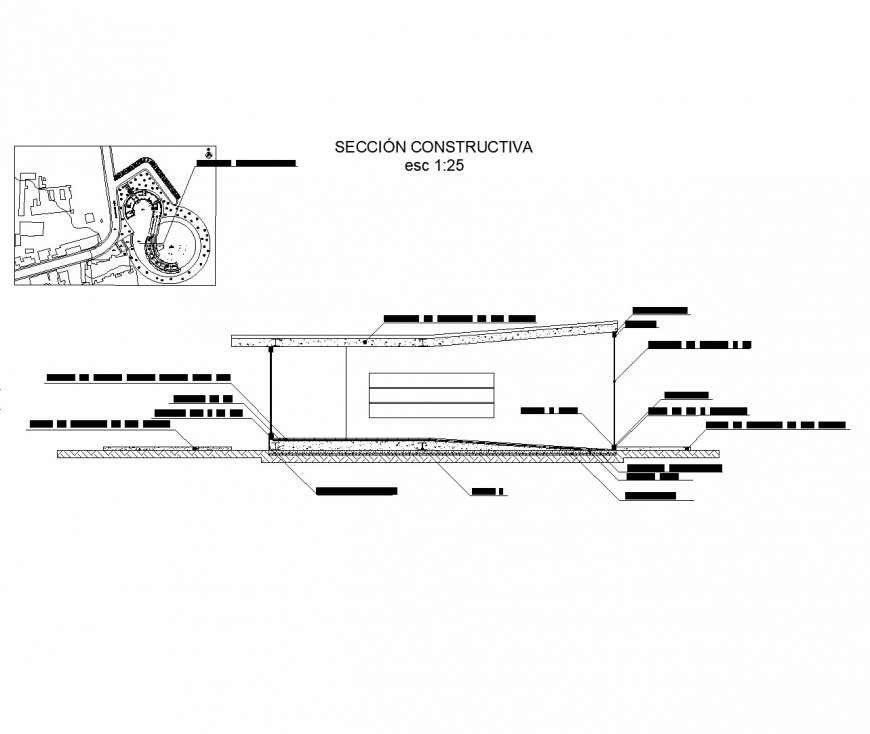 Section child care plan detail dwg file