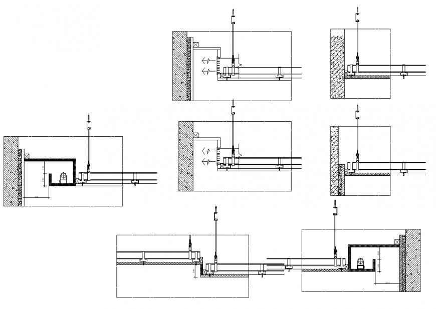 Section detail door plan layout file
