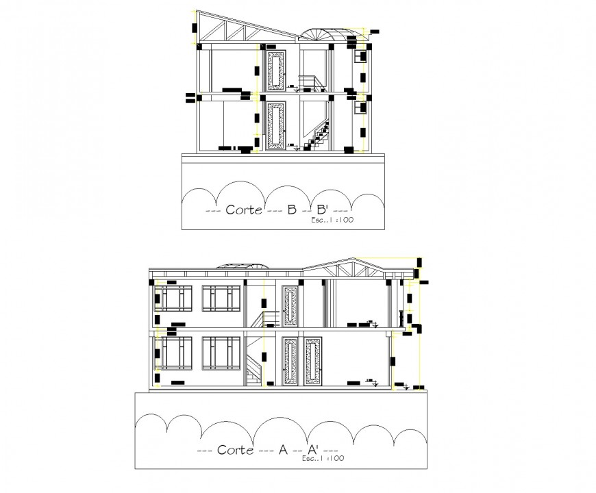 Section home plan layout file