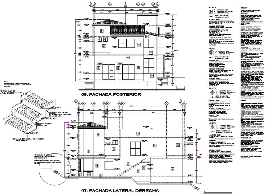 Section house plan dwg file