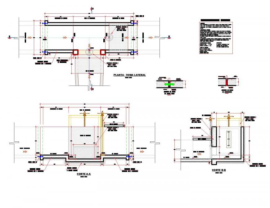 Section of Channel computer plan dwg file