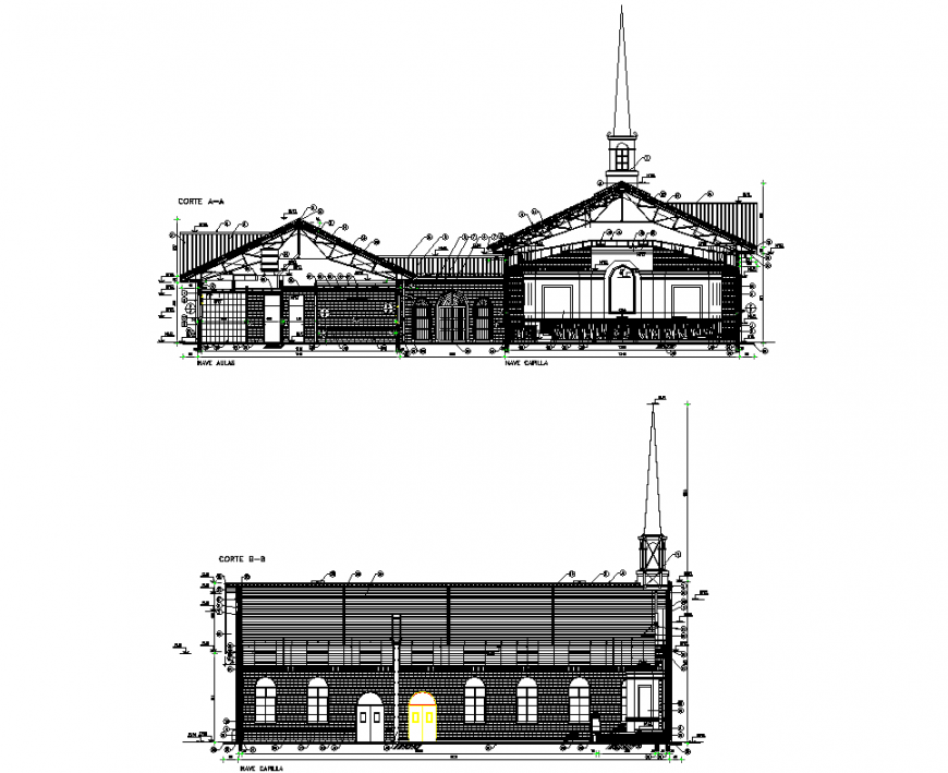 Section of church plan layout file