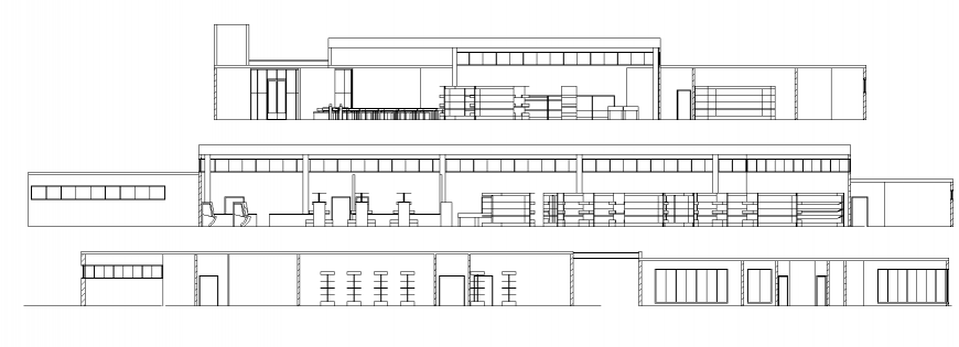 Section of commercial office in dwg file.