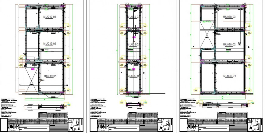 Section of lift planning detail dwg file