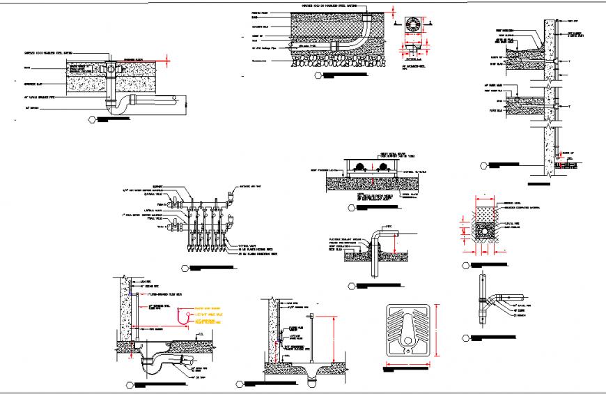 Section plumbing detail plan layout detail