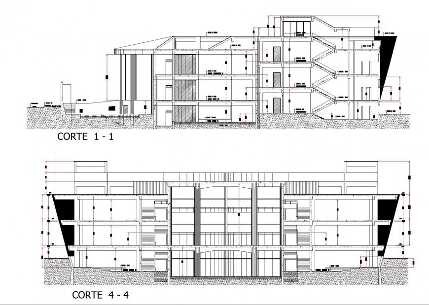 Section Universitary plan layout file