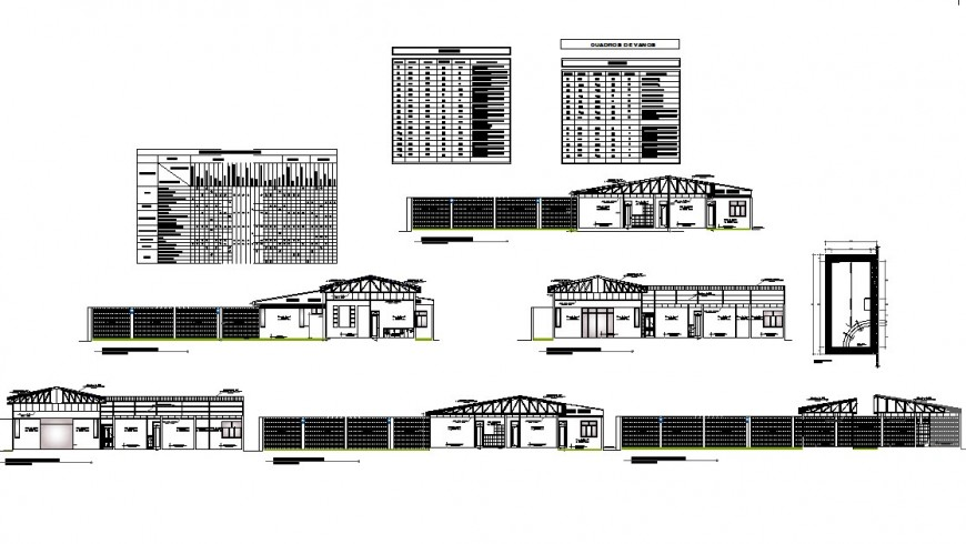 Section workshop planning detail dwg file