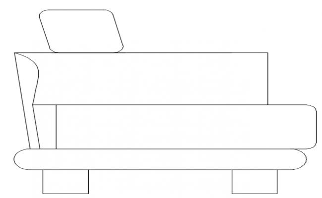 sectional detail of sofa dwg file