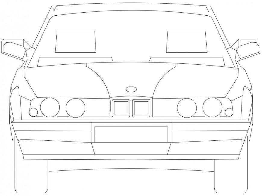 Sedan model front view car models file