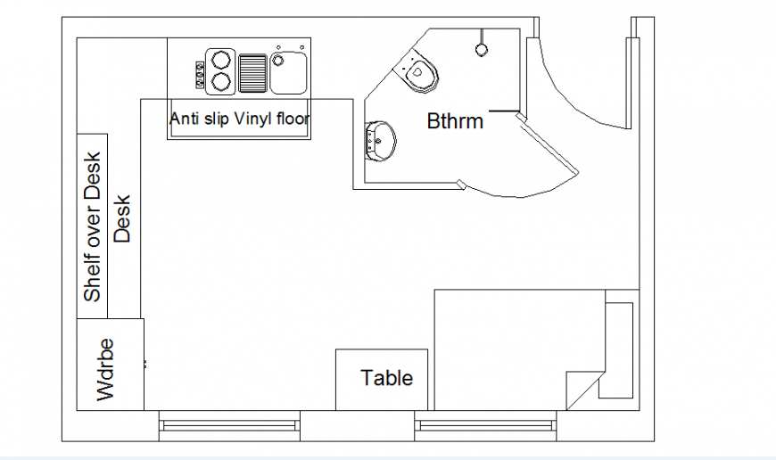Self contained student accommodation autocad file