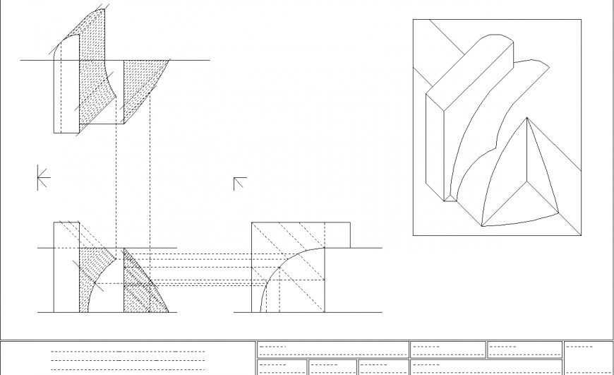 Shadow drawing in dwg AutoCAD file.