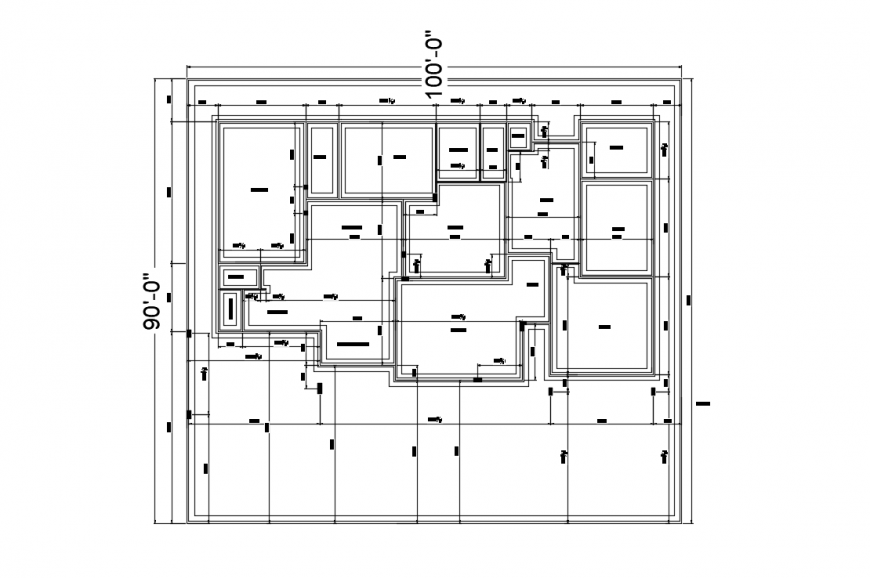 Shan house distribution plan with dimensions drawing details dwg file
