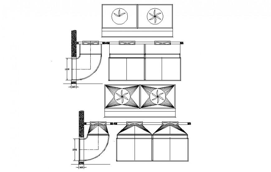 Shape and design drawings units 2d view autocad file