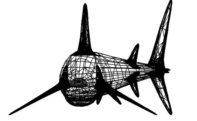 shark 3d dwg file