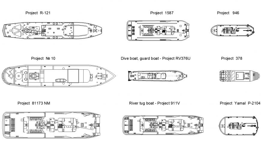 Ships detail elevation CAD block autocad file