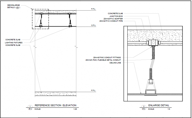 shop drawing (embedded junction box for lighting)