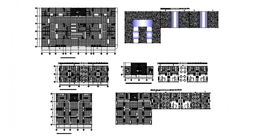 Shopping area floor plan in auto cad