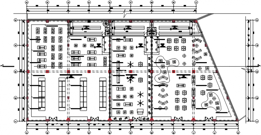 Shopping center floor architecture layout plan cad drawing details dwg file