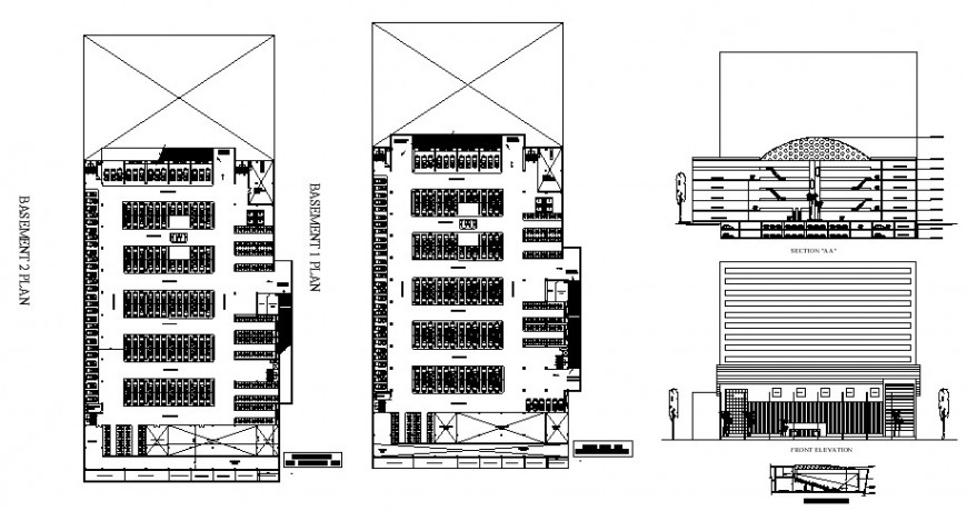 Shopping Centre plan drawing in dwg file.