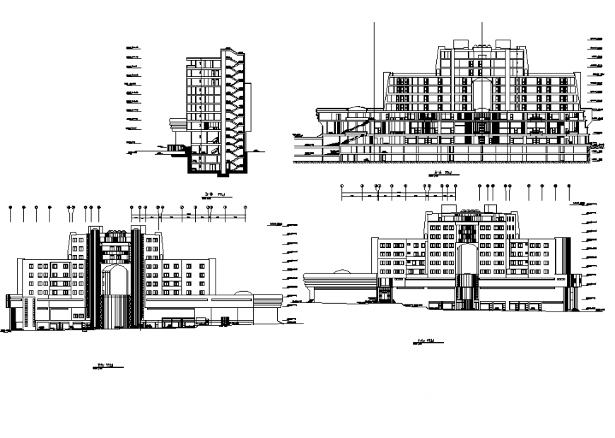 Shopping mall detail autocad file