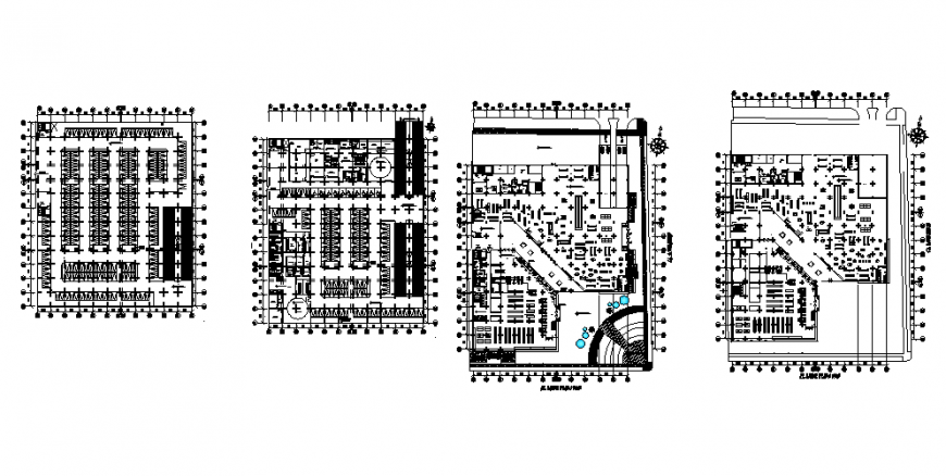 Shopping mall sector planning autocad file