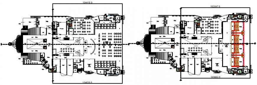 shopping mall with multiplex theatre cad file