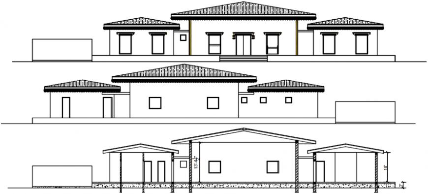 Side elevation of house file