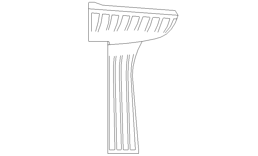 Side elevation sink detail dwg file