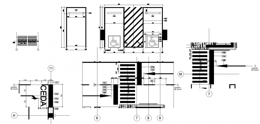 Signaling details drawing in dwg file.